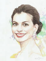 Anne Hathaway by faerwin