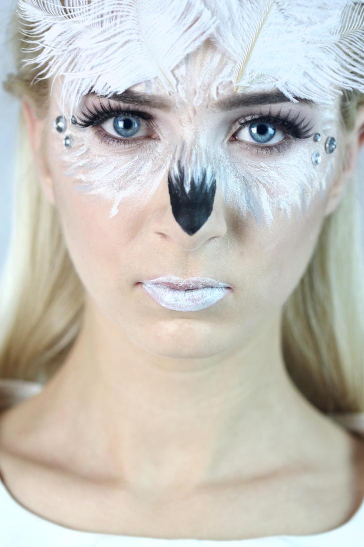 make up and hair snow owl by cleo feline on deviantart. Black Bedroom Furniture Sets. Home Design Ideas