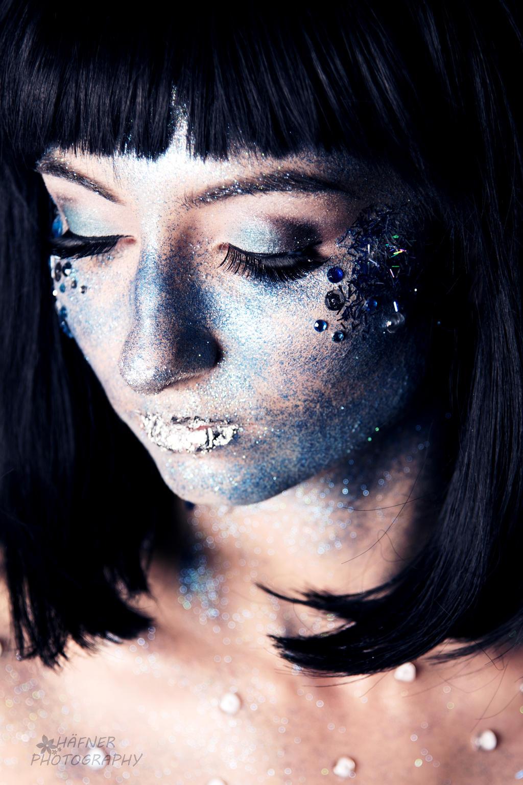 Silver Glitter Body Paint