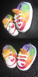 Rainbow Converse Charms by geothebio