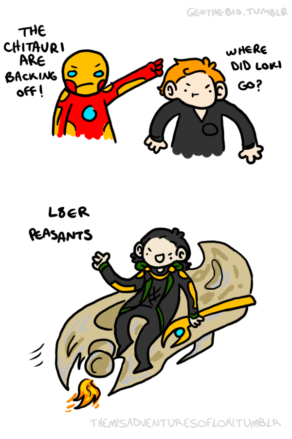The Misadventures of Loki #3 by geothebio
