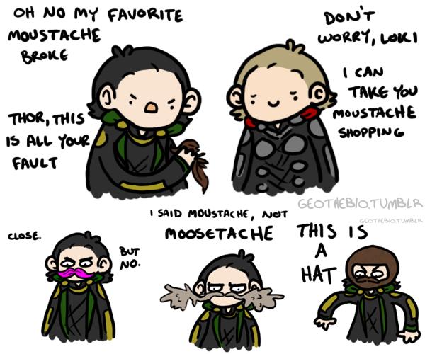 Loki's 'Tache by geothebio