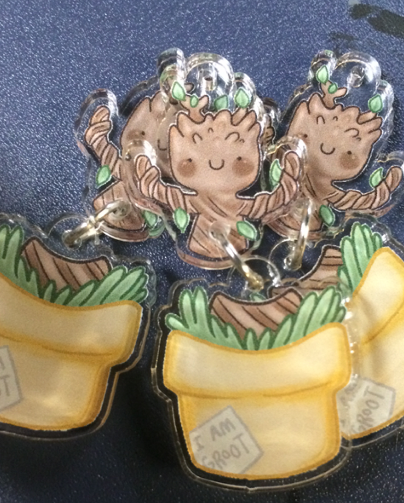 Dancing Groot Charms by geothebio