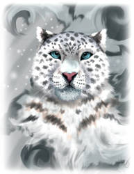 Icy Snow Leopard