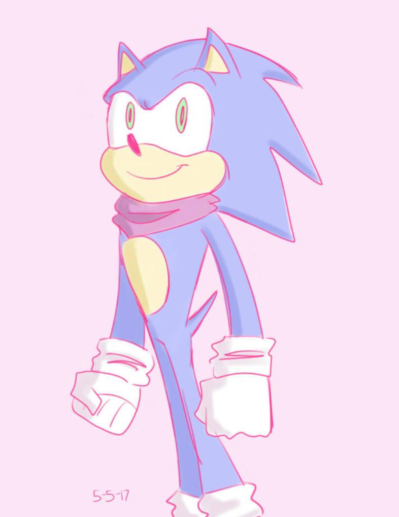 Pink Sonic by mayopotato855