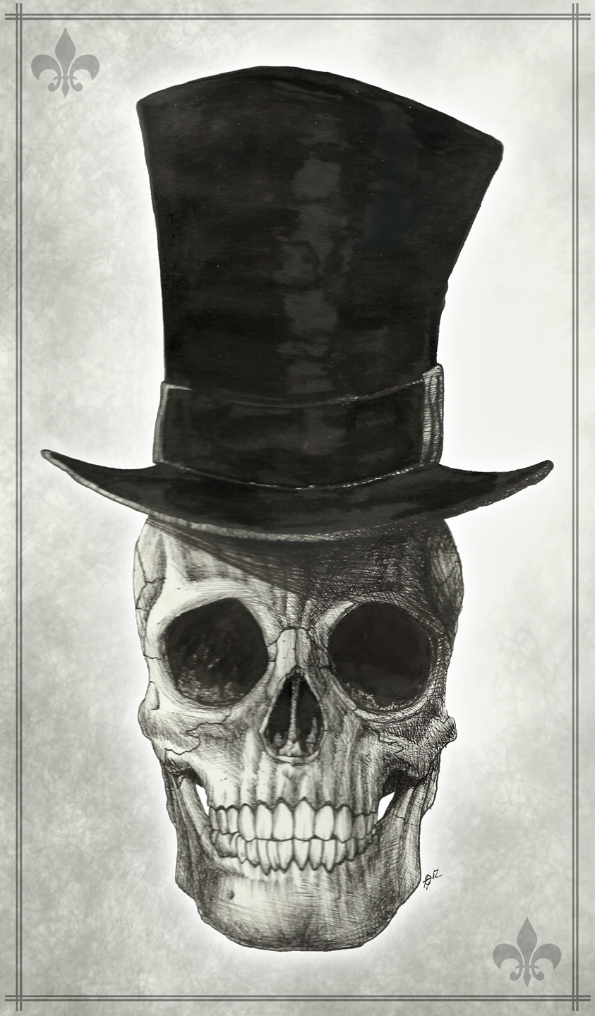 skull with top hat by maskedmayhem on deviantart. Black Bedroom Furniture Sets. Home Design Ideas