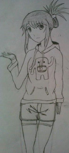 Anime girlw domo hoodie by justicmo