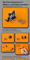 Make cute kitten FIMO TUTORIAL