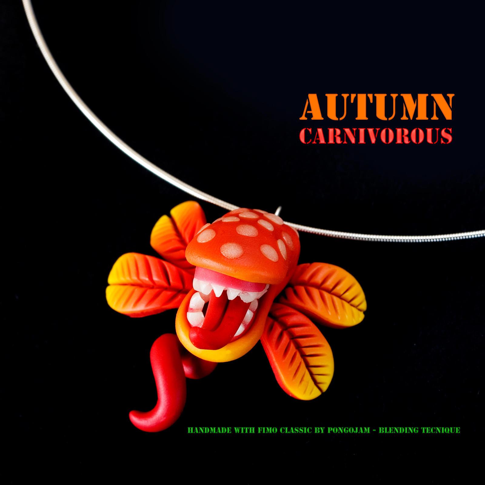 Autumn Carnivorous Necklace by pongojam