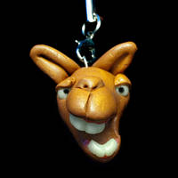 Llama Head Charm by pongojam