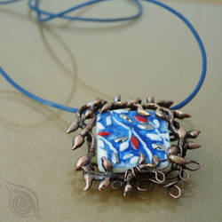 Blue leaves (necklace) by NADYjewel