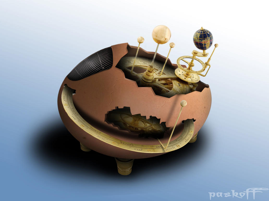 Egg with clock mechanism by paskoff