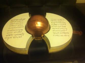 Tsubaki Yayoi's shield, showing pages by ScannerJOE
