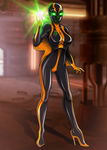 Black Pariah Starfire (commission/writing contest)