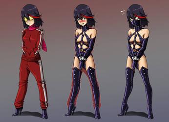 Hidden Fetishwear: Biker Suit Ryuko (?) by Re-Maker