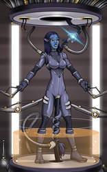 Pacified Neytiri 3/5 (commission) by Re-Maker