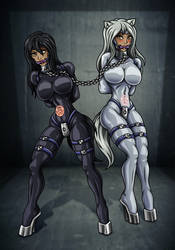 Amber and Frost rubber ponies (Commission)