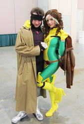Gambit and Rogue by Ruskicho