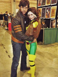 Rogue and Logan by Ruskicho