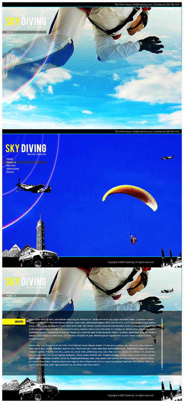 SkyDiving in cairo by dpainter