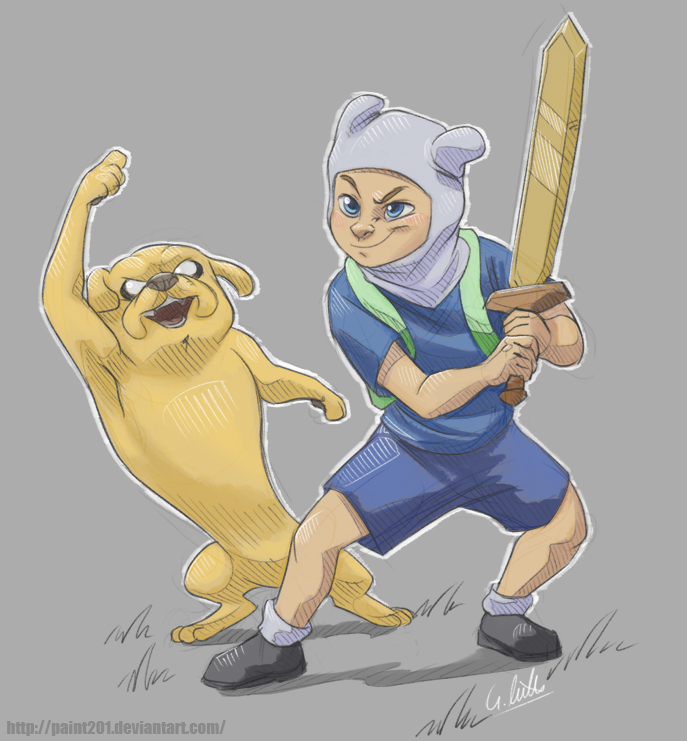 Finn and Jake by Fakelore