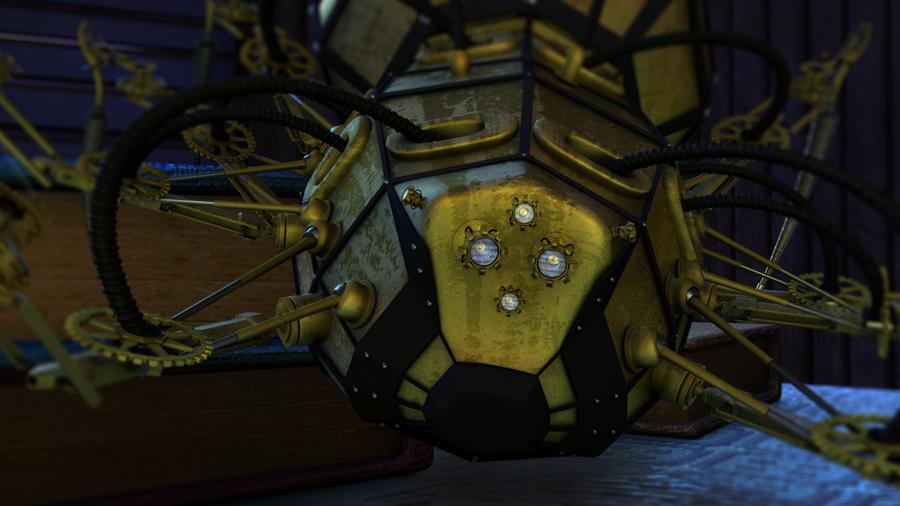 Steampunk Dark Mechanism Spider by Ihabiano