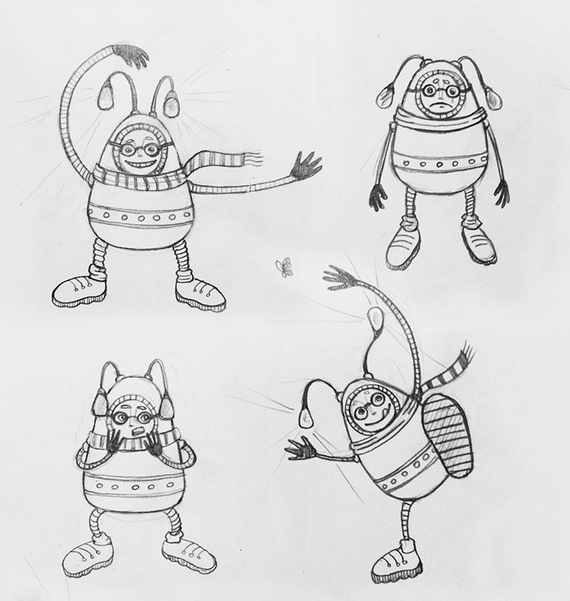 UFO people sketch by goraakkaya