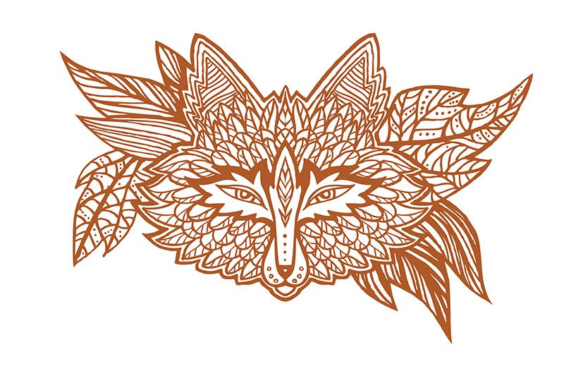 Native american fox by goraakkaya