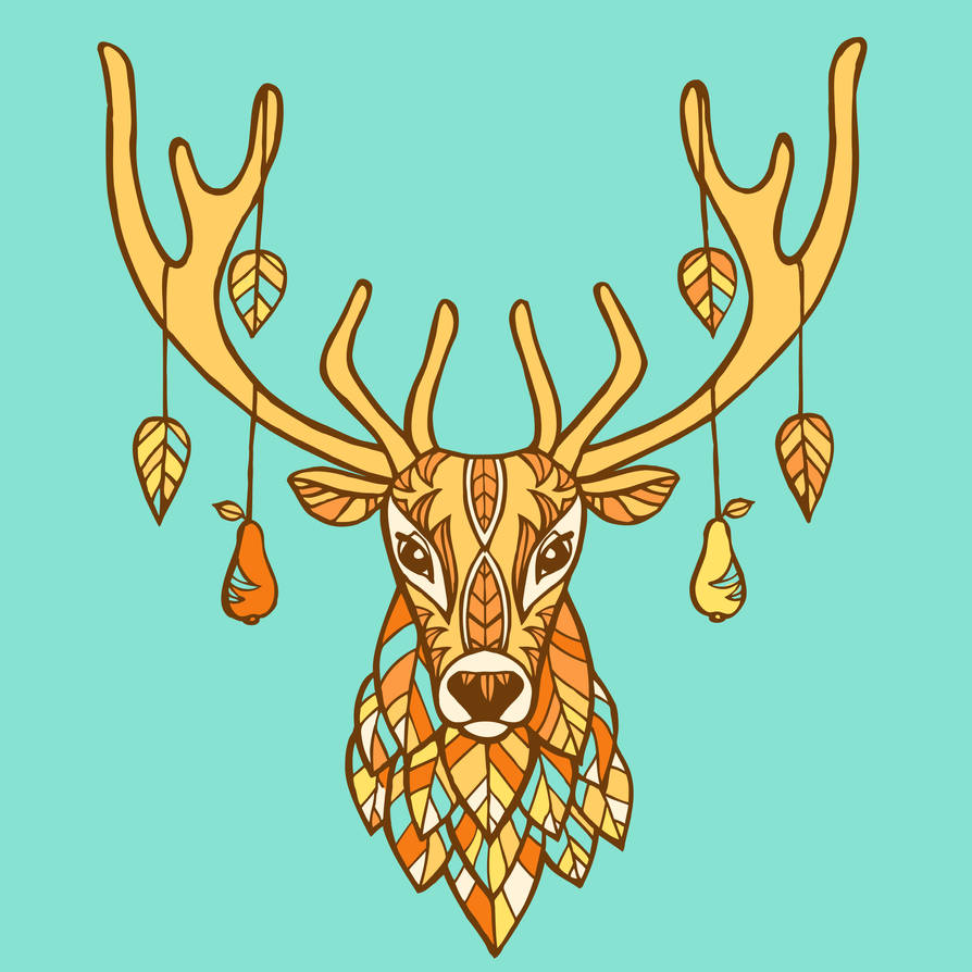 Autumn ornamented deer