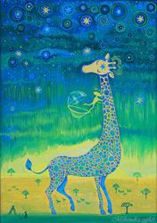 Giraffe meet alien by goraakkaya
