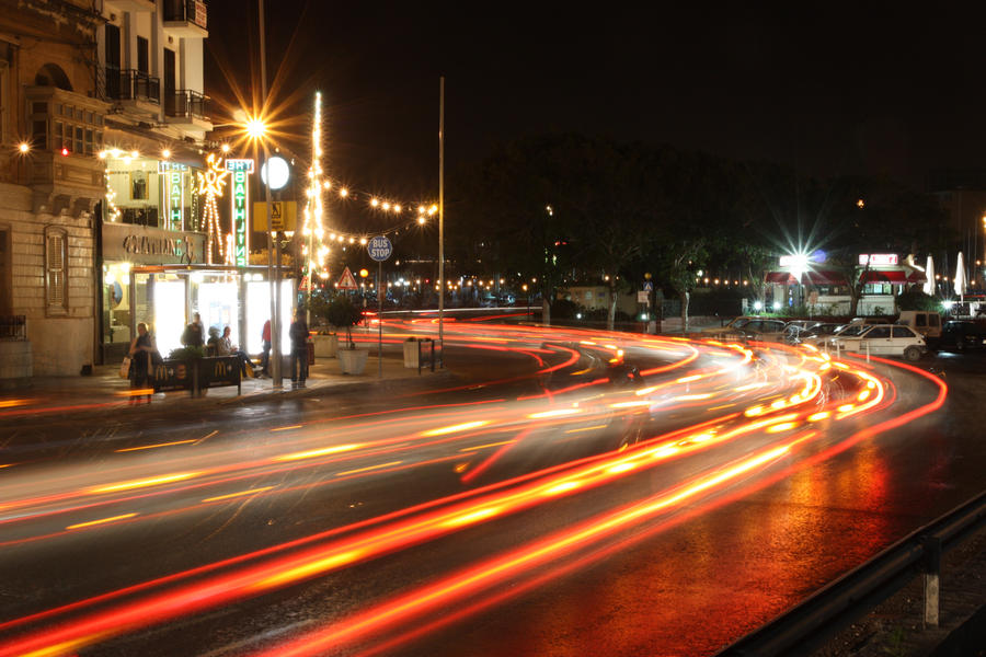 Long Exposure Car Tail Lights By Netman007 On Deviantart