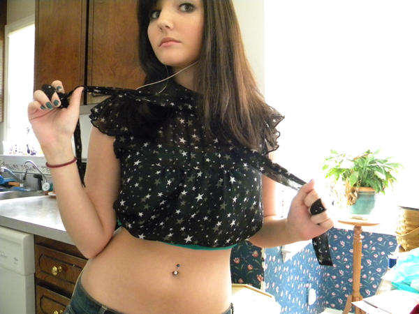 Girls with belly button rings getting fucked #15
