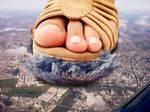 Giantess Foot Destruction
