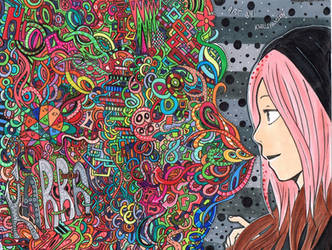 Colorful Zentangle! by tiredtshirt