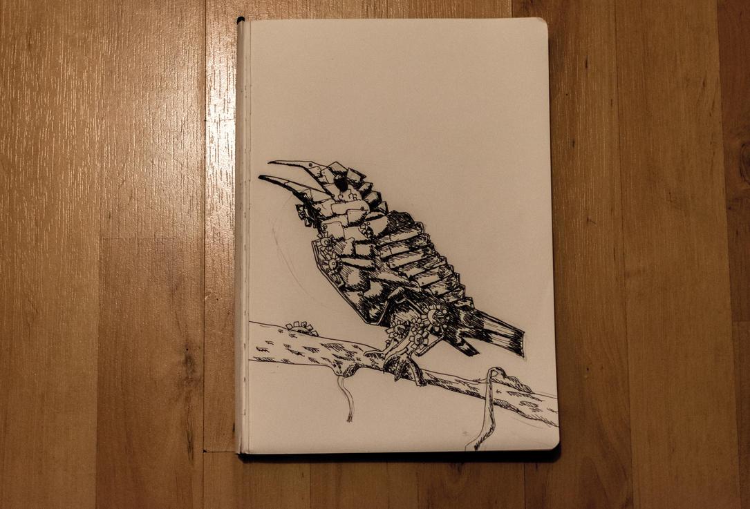 Nature Mixed With Technology Bird by JoshDoesArtStuff99