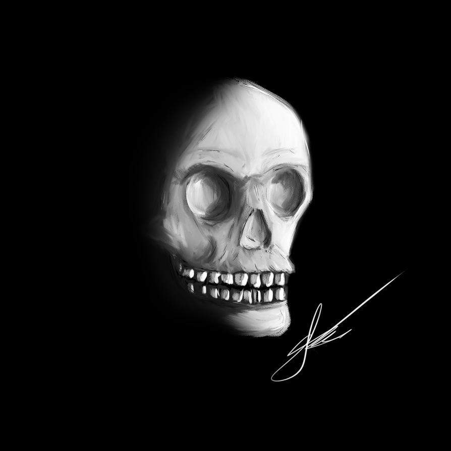 Skull Digital Painting by JoshDoesArtStuff99