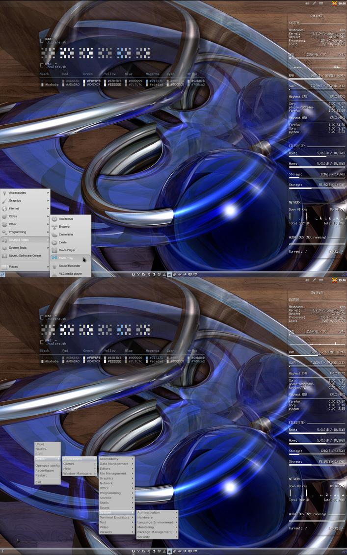 My Current Openbox Desktop by Paz-1