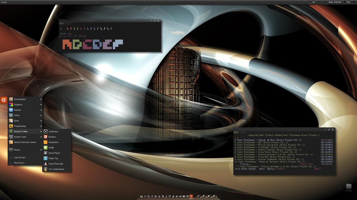 Ubuntu/urxvt/moc/awn by Paz-1