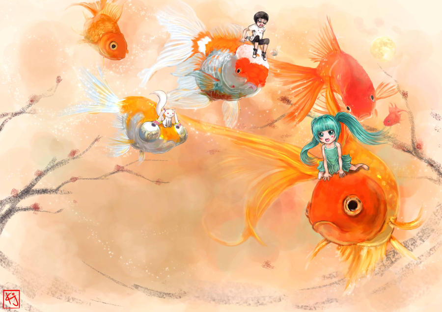 Goldfish dream by ku on on deviantart for Dream about fish