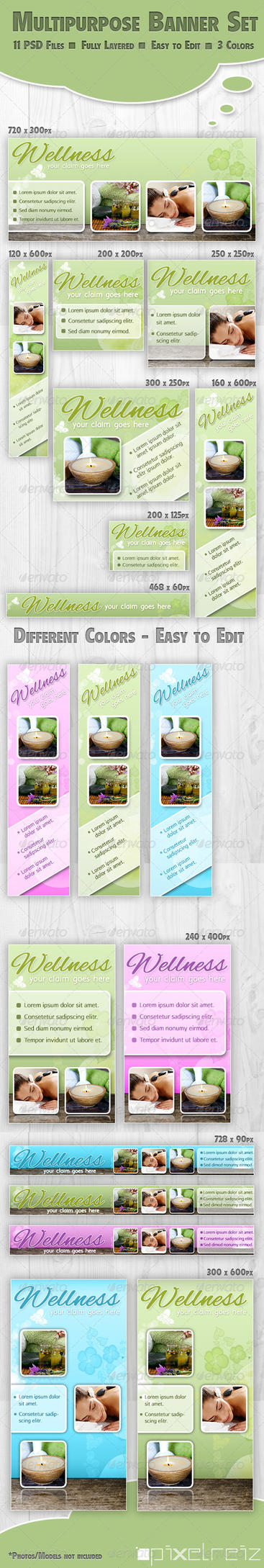 Beautiful Multipurpose Web Banner Set by Pixelreiz