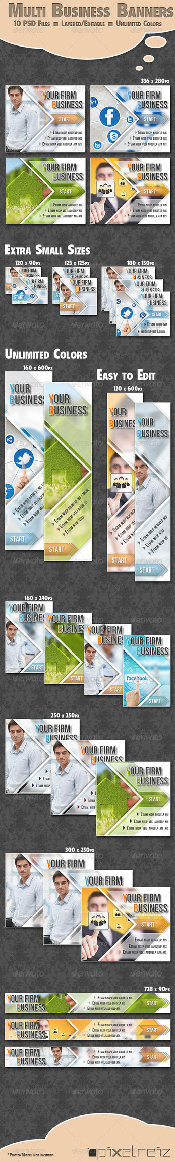 Business Banner - for all kind of business / Multi by Pixelreiz