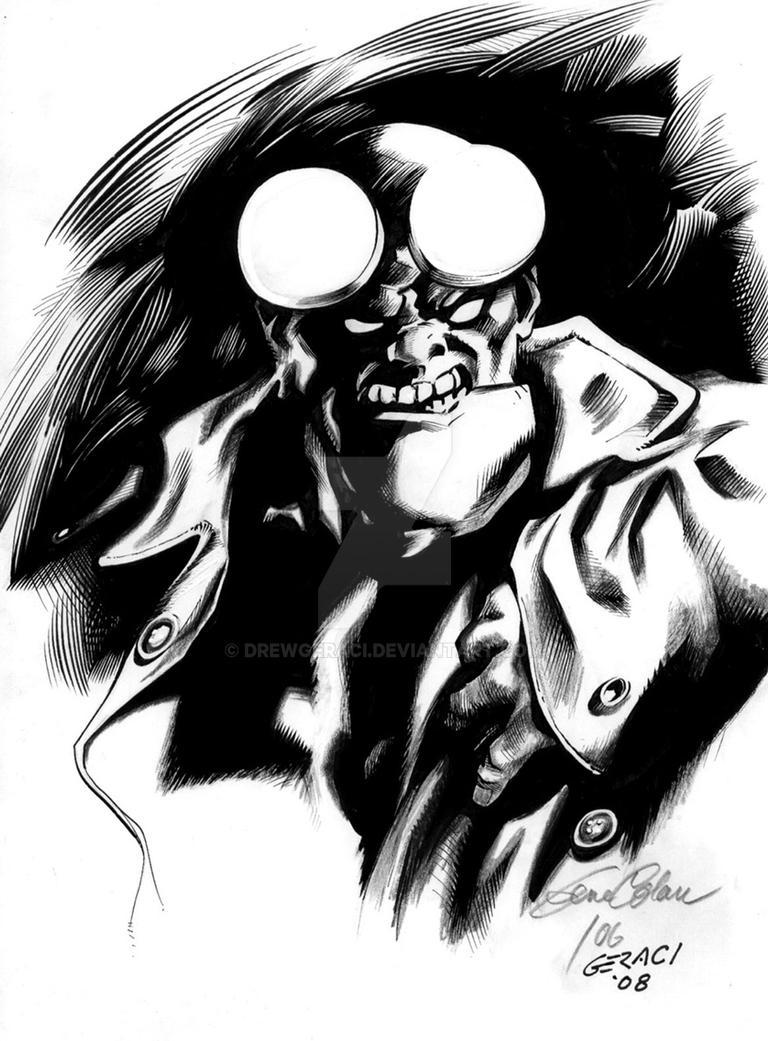 Hellboy in the Shadows by DrewGeraci