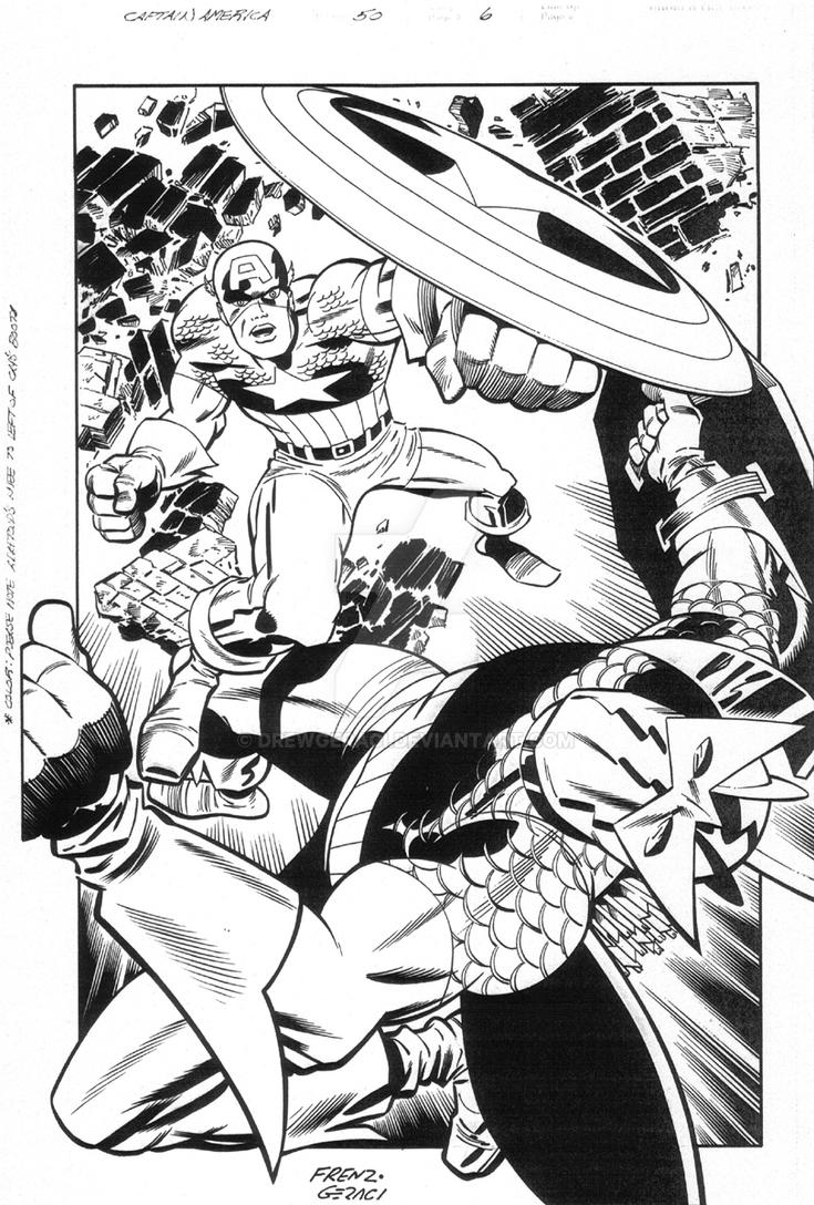 Cap vs. The Super-Adaptoid! by DrewGeraci