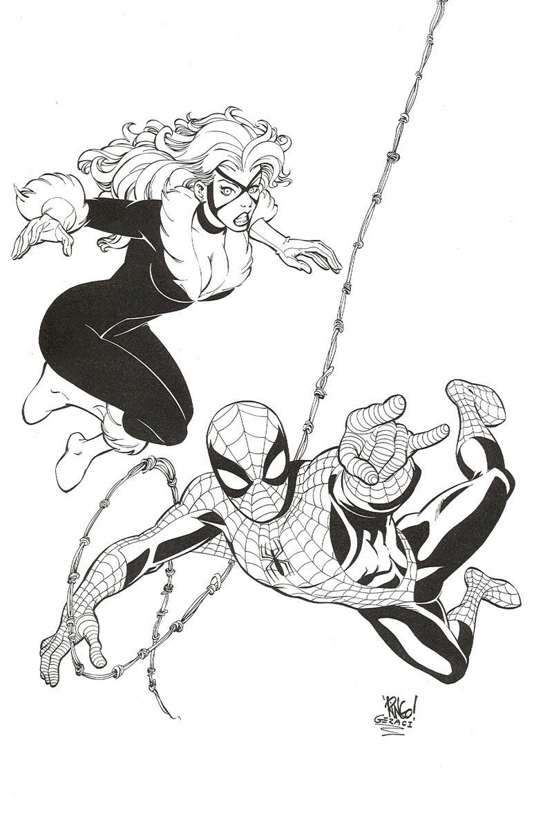 Spider-Man / Black Cat by DrewGeraci