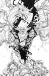 Burning Man #3 cover - Inks