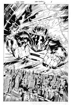 Future's End#15 page1 original pencils and inks