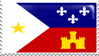 Flag of Acadiana / Cajun Stamp by AtroxGray