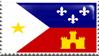 Flag of Acadiana / Cajun Stamp by AtroxGray