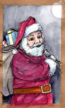Santa watercolour