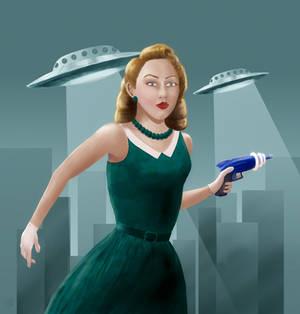 1950's Sci-Fi Girl